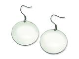 Chisel Stainless Steel Polished Discs Dangle Earrings style: SRE294