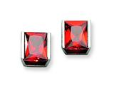 Chisel Stainless Steel Red CZ Stone Post Earrings style: SRE304