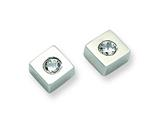Chisel Stainless Steel CZ Brushed Diamond Shaped Post Earrings style: SRE307