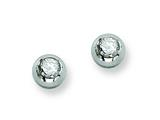Chisel Stainless Steel Polished CZ Post Earrings style: SRE322