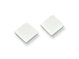 Chisel Stainless Steel Polished Square Post Earrings style: SRE326