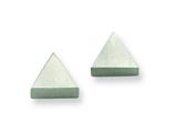Chisel Stainless Steel Brushed Triangle Post Earrings style: SRE327