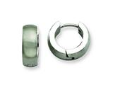 Chisel Stainless Steel Brushed and Polished Round Hinged Hoop Earrings style: SRE373