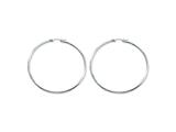 Chisel Stainless Steel Polished 60mm Hoop Earrings style: SRE400