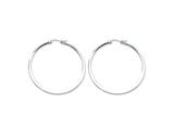 Chisel Stainless Steel Polished 50mm Hoop Earrings style: SRE402