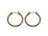 Chisel Stainless Steel Brown Ip Plated 26mm Hoop Earrings style: SRE409
