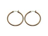 Chisel Stainless Steel Brown Ip Plated 32mm Hoop Earrings style: SRE410