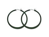 Chisel Stainless Steel Black Ip Plated 43mm Hoop Earrings style: SRE416