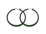Chisel Stainless Steel Black Ip Plated 43mm Hoop Earrings style: SRE416