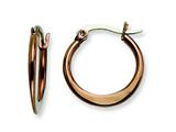 Chisel Stainless Steel Brown Ip Plated 19mm Hoop Earrings style: SRE418