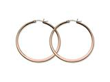 Chisel Stainless Steel Brown Ip-plated 52mm Hoop Earrings style: SRE421