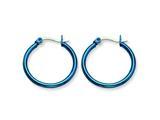 Chisel Stainless Steel Blue Ip Plated 26mm Hoop Earrings style: SRE424