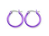Chisel Stainless Steel Pink Ip Plated 19mm Hoop Earrings style: SRE430