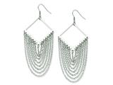 Chisel Stainless Steel  Shape With Dangle Chain Earrings style: SRE486