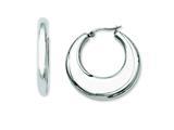 Chisel Stainless Steel 35mm Hollow Hoop Earrings style: SRE504