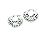 Chisel Stainless Steel 30mm Fancy Cutout Hoop Earrings style: SRE508