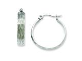 Chisel Stainless Steel Textured Hoop Earrings style: SRE512