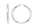 Chisel Stainless Steel Polished Hoop Earrings style: SRE541