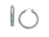 Chisel Stainless Steel Textured Hoop Earrings style: SRE544