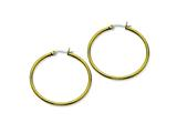 Chisel Stainless Steel Gold Ip Plated 40mm Hoop Earrings style: SRE561