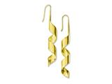 Chisel Stainless Steel Yellow Ip-plated Swirl Dangle Earrings style: SRE577