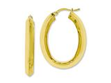 Chisel Stainless Steel Yellow Ip-plated Knife Edge Hollow Oval Hoop Earrings style: SRE635