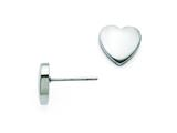 Chisel Stainless Steel Small Heart Post Earrings style: SRE689