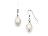 Chisel Stainless Steel Fw Cultured Pearl Shepherd Hook Earrings style: SRE692