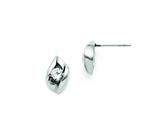 Chisel Stainless Steel CZ Polished Post Earrings style: SRE719