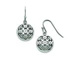 Chisel Stainless Steel Polished CZ Circle Shepherd Hook Earrings style: SRE779