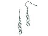 Chisel Stainless Steel Polished Cz Shepherd Hook Earrings style: SRE808