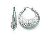 Chisel Stainless Steel Polished Hoop Earrings style: SRE827