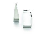 Chisel Stainless Steel Brushed Rectangle Hoop Earring style: SRE847