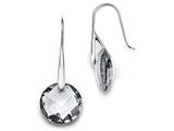 Chisel Stainless Steel Polished Grey Glass Shepherd Hook Earrings style: SRE855