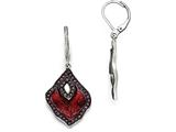 Chisel Stainless Steel Polished Black Ip-plated Enamel Crystal Mop Earrings style: SRE874