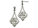 Chisel Stainless Steel Polished Post Dangle Earrings style: SRE891