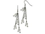 Chisel Stainless Steel Multi Strand Music Note Dangle Shepherds Hook Earrings style: SRE907
