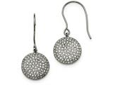 Chisel Stainless Steel Polished W/ Preciosa Crystal Circle Earrings style: SRE940