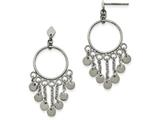 Chisel Stainless Steel Polished Dangle Post Earrings style: SRE957