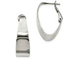 Chisel Stainless Steel Polished Hoop Earrings style: SRE968