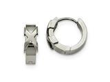 Chisel Stainless Steel Polished Hinged Hoop Earrings style: SRE974
