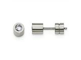 Chisel Stainless Steel CZ June Birthstone Polished Post Earrings style: SRE999