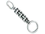 Chisel Stainless Steel Black Rubber Key Chain Necklace style: SRK100