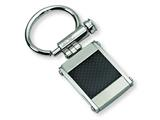 Chisel Stainless Steel Black Carbon Fiber Key Chain style: SRK101