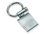 <b>Engravable</b> Chisel Stainless Steel Brushed and Polished Key Chain style: SRK116