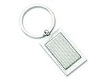 Chisel Stainless Steel Polished And Textured Key Ring style: SRK127