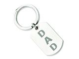 Chisel Stainless Steel Brushed Dad Key Ring style: SRK128