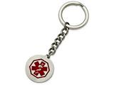 Chisel Stainless Steel Polished Red Paint Inlay Medical Key Chain Necklace style: SRK141