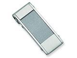 Chisel Stainless Steel Grey Carbon Fiber Money Clip style: SRM103