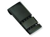 Chisel Stainless Steel Black-plated Money Clip style: SRM104